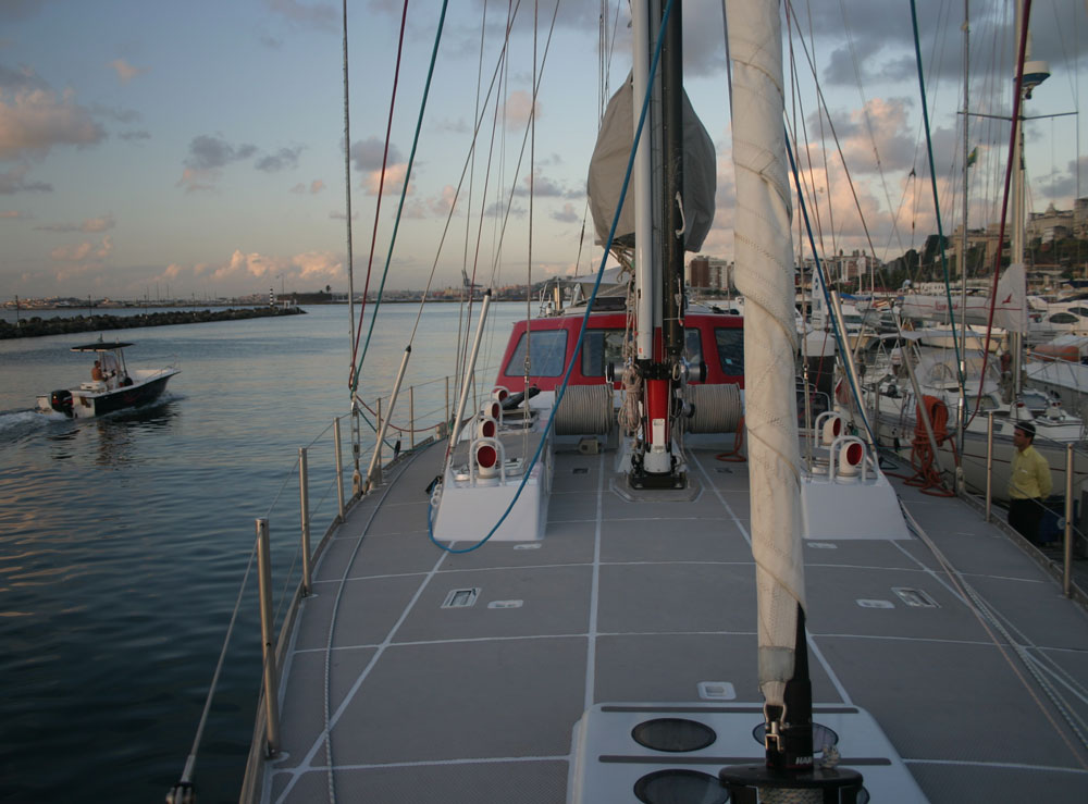 (The boat to her right is an Oyster 406, similar to our previous boat, .